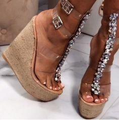Studded Heels, Pumps Heels, Wedge Sandals, Stiletto Heels, High Sandals, Strappy Wedges, Strap Sandals, Super High Heels, Prom Heels