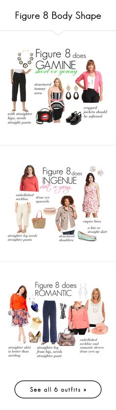 """""""Figure 8 Body Shape"""" by expressingyourtruth ❤ liked on Polyvore featuring Kate Spade, Alexis Bittar, Mark Cross, Forever 21, Avenue, Jessica Simpson, American Rag Cie, Ellie, Swarovski and Lipsy"""