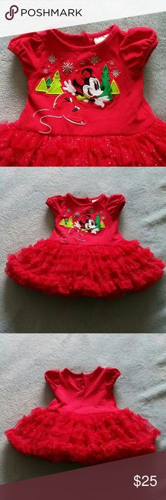 Dinsey Baby Red Minnie Mouse Holiday Dress * This is a gently used item.  * No Holds  * No Trades  * Questions Welcome  * Offers Considered via the Offer Button  * ($3 Offers Will Not Be Accepted) Disney Dresses