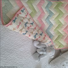 Купить КОЛЫБЕЛЬКА детский лоскутный плед - лоскутное одеяло, лоскутное шитье, лоскутное покрывало