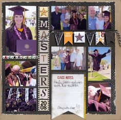 Masters degree scrapbook page