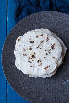 Hjemmelavede hvede tortillas