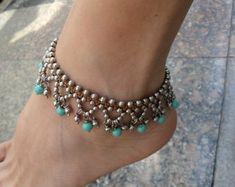 tornozeleira-indiana-turquaise-bijuterias