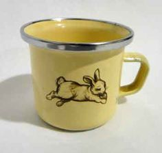 Vintage bunny cup. So do I put this under tea time or I love bunnies?  Lol!
