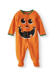 bcce01c071 Way To Celebrate! Sleep & Play Halloween Pumpkin Baby Zip Pajama Size 6-