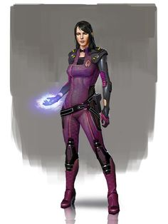 Mass Effect / Dragon Age - Cerberus Officer Morrigan (by AndrewRyanArt)