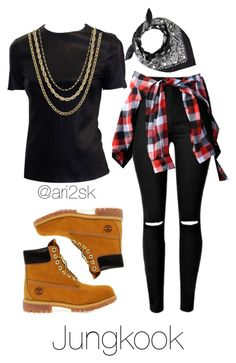 Boy in love- Jungkook  by ari2sk on Polyvore featuring polyvore, fashion, style, Timberland, Lord & Taylor, David Yurman and clothing
