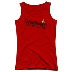 "Checkout our #LicensedGear products FREE SHIPPING + 10% OFF Coupon Code ""Official"" Star Trek / Expendable - Juniors Tank Top - Star Trek / Expendable - Juniors Tank Top - Price: $29.99. Buy now at https://officiallylicensedgear.com/star-trek-expendable-juniors-tank-top"