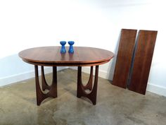 Broyhill Brasilia Dining Table Round Mid by GoodBonesVintageCo, $1,095.00