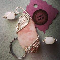 #workshop #pendants #pink #quartz #wirewrapped #workshop #wirewrap #jewerly #WireGalaxy