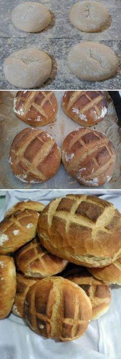 Super rico ricoo PAN basico, muy facil en horno de leña ¿QUIÉN QUIERES COMER ESTE PAN HOY MISMO! #facil #horno #lena #comohacer #pan #panfrances #pantone #panes #pantone #pan #receta #recipe #casero #torta #tartas #pastel #nestlecocina #bizcocho #bizcochuelo #tasty #cocina #chocolate Si te gusta dinos HOLA y dale a Me Gusta MIREN … Biscuit Bread, Pan Bread, Wood Oven, Tasty, Yummy Food, Crazy Cakes, Portuguese Recipes, Easy Cooking, Hot Dog Buns