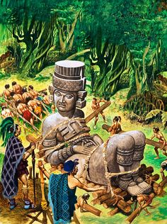 Mayans - The First American Indians. The Mayans never learned to use animals as beasts of burden and hauled vast quarried building stone through the jungles themselves.