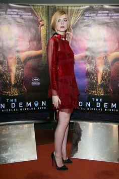 """breathtakingwomen: """"Elle Fanning at the 'The Neon Demon' Premiere, Paris (3 June, 2016) """""""