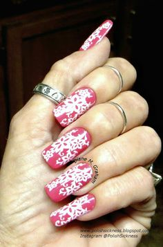 Orly Fiesta, Mundo de Unas white, Fab Ur Nails FUN 13 stamp