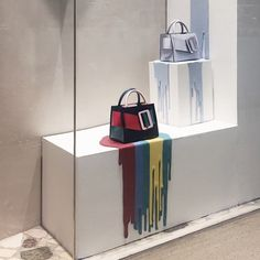 Photo by debsirin chulalongkorn, pinned by ton van der veer store displays, Visual Display, Display Design, Store Design, Shop Interior Design, Retail Design, Visual Merchandising, Bangkok Thailand, Thailand Travel, Handbag Display