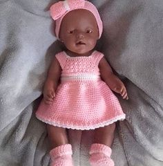 Baby born crochet doll free pattern ideas for 2019 Knitting Dolls Clothes, Crochet Doll Clothes, Doll Clothes Patterns, Crochet Dolls Free Patterns, Baby Knitting Patterns, Baby Born Kleidung, Barbie Und Ken, Baby Born Clothes, Baby Outfits Newborn
