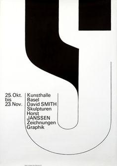 Hofmann, Armin poster: Kunsthalle Basel - David Smith/ Horst Janssen