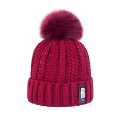 bf08b5857db 2018 New Pom Poms Winter Hat for Women Fashion Solid Warm Hats Knitted  Beanies Cap Brand Thick Female Cap Wholesale