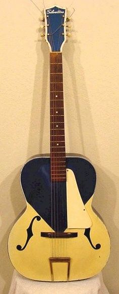 John Prine's first guitar. 1960 Kentucky Blue Silvertone.