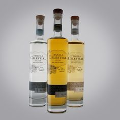 Tequila Celestial | brand identity/logo, bottle design and label by Axion Design.