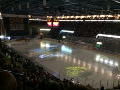 Game night at the NIC, the lights are dimmed and the teams ready to take to the ice. Sheffield Steelers, Nottingham Panthers, Panthers Game, Game Night, Hockey, Ice, Lights, Field Hockey, Ice Cream
