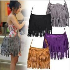 Popular New Women Handbag Tassel Cross Body Bag Solid Color Zipper Shoulder Bags Leather Handbags for female Slouch Bags, Fringe Purse, Purse Brands, Leather Shoulder Bag, Shoulder Bags, Shoulder Strap, Tie Dye Skirt, Fashion Outfits, Style Fashion