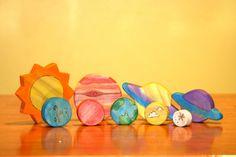 Solar System Wood Toy Set van FromJennifer op Etsy