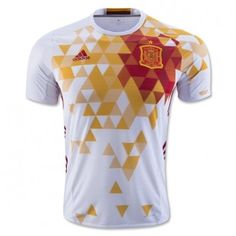 2016 Spain Away White Thailand Soccer Jersey