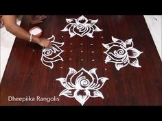 sravana sukravaram muggulu designs with 11 dots * friday lotus kolam * simple rangoli Rangoli Borders, Rangoli Border Designs, Small Rangoli Design, Rangoli Designs With Dots, Rangoli Designs Images, Rangoli With Dots, Beautiful Rangoli Designs, Simple Rangoli, Henna Designs
