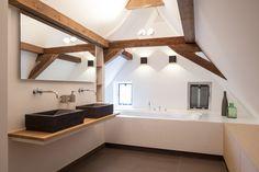 Bathroom. Renovation monumental farmhouse. Architecture and interior design by…
