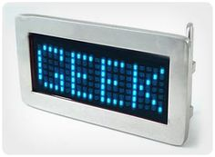 Are your belt buckles just not getting enough attention? The Scrolling LED Belt Buckle will bring everyone's attention to your midsection. You can program the buckle to read however you choose, so your message is seen loud and clear. The buckle is available in three colors: red, blue, and multi, so you can wear a variety of different buckles and spread your message far and wide. Prices Vary