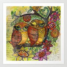 Owl Art Print by Kari D - $24.96