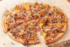 Smoky butternut squash pizza, vegan and gluten-free | Recipe Renovator on Earth Eats