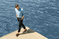 Adam Senn Sails in Style for Massimo Duttis June 2013 Lookbook image adam dutti010 800x533 . Love the grey glass look of the water here. It's translucent and matte.