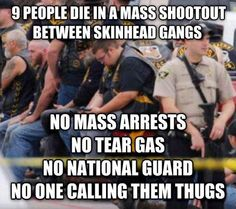 """Why didn't police shoot and kill these Dangerous Creeps? Surely with all the guns and weapons these Bums had, why didn't the police feel their lives were in danger? Yet one by one they shoot and kill young """"Unarmed Black Men?"""" Very Wrong and Very Sad.....No Justice, No Peace!"""