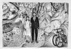 Kresba tužkou - podklad pro svatební oznámení