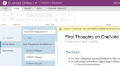 Getting Started with Microsoft OneNote