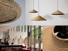Lámparas de diseño eco-sostenible que en 2015 marcarán tendencia en el sector de la iluminación de interiores y exteriores.