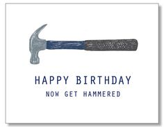 HAPPY BIRTHDAY get Drunk Card. Hilarious Funny Card for men guys dudes. Eco & Handmade