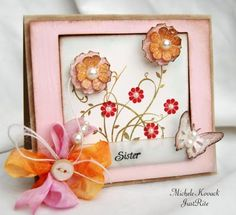 Gonna try making this with CTMH color ready ribbon, bakers twine, flutters, and paper flowers