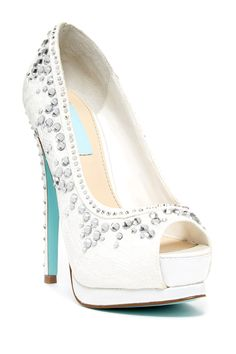 Something blue for that day...  Betsey Johnson Vow Peep Toe Platform Pump