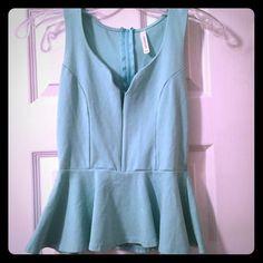 Tops - Turquoise peplum top