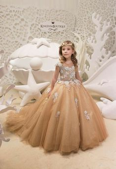 Items similar to Gold Lace Tulle Dress - Birthday Wedding party Bridesmaid Holiday Gold Tulle Lace Dress on Etsy Gold Flower Girl Dresses, Flower Girl Gown, Cute Little Girl Dresses, Girls Pageant Dresses, Gowns For Girls, Gold Tulle, Gold Lace, Tulle Lace, Tulle Dress