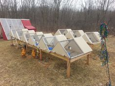 A frame rabbit Hutches. Would also work for quail, and young chickens, or a mama hen that needed more seclusion. Rabbit Hutch Plans, Outdoor Rabbit Hutch, Rabbit Hutches, Rabbit Pen, Rabbit Farm, Rabbit Cages, Raising Rabbits For Meat, Meat Rabbits, Homestead Farm