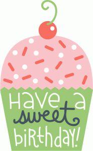 Silhouette Design Store - View Design #58611: birthday cupcake