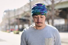 Tie-dye Japanese Headband #mensfashion #mens #mensheadwear #japanesestreetfashion #japanstreetfashion #streetfashion #fashion #japan #japanese #japanesemodel #tie-dye #dope #japaneseheadband #headband #wideheadband