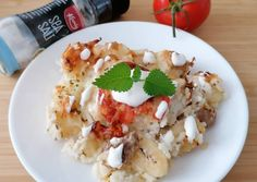 Risotto, Meat, Chicken, Ethnic Recipes, Food, Gnocchi, Essen, Meals, Yemek
