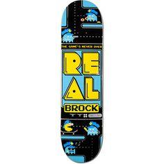 REAL SKATEBOARDS  Real Brock The Game's Never Over 8.18 Skateboard Deck  $51.95