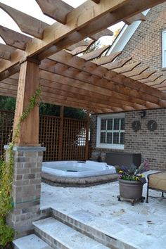 Covered Porch With Hot Tub Design, Pictures, Remodel, Decor and Ideas - page 2