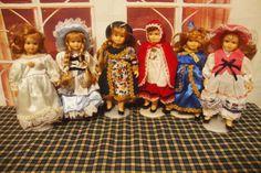 外贸出口俄罗斯古董陶瓷洋娃娃孤品收藏 6款入 无支架